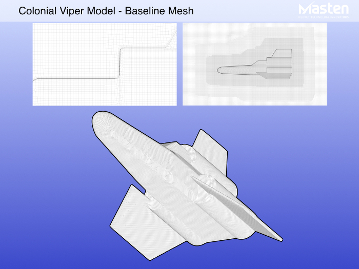 Figure 5: CFD grid views of the Colonial Viper model | Courtesy of Masten Space Systems