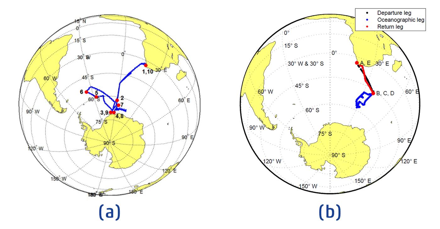 SAA II GPS tracks