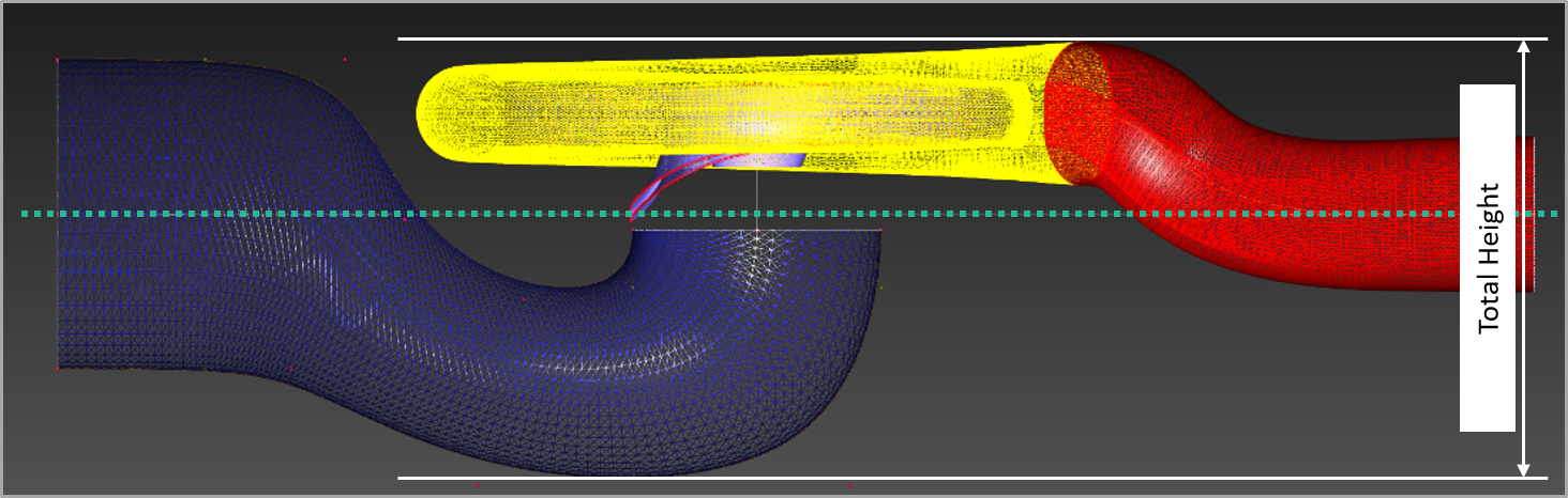CFD domains with parametric side