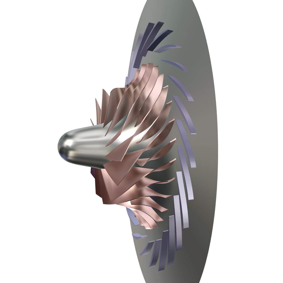 Model of the investigated radial compressor (SRV4)