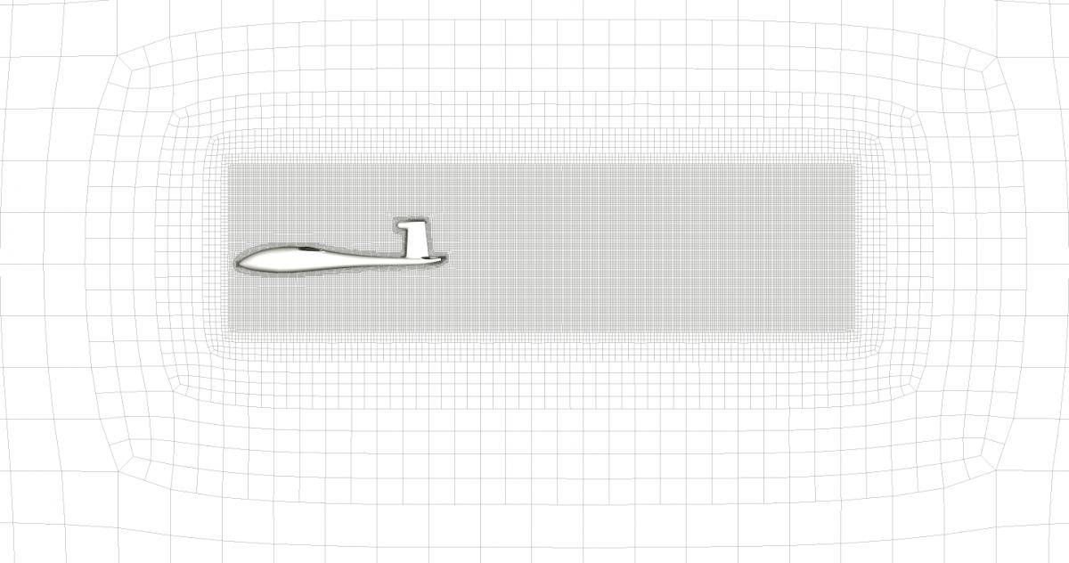 Figure 1: Symmetry Plane View Volumetric Refinement Visible